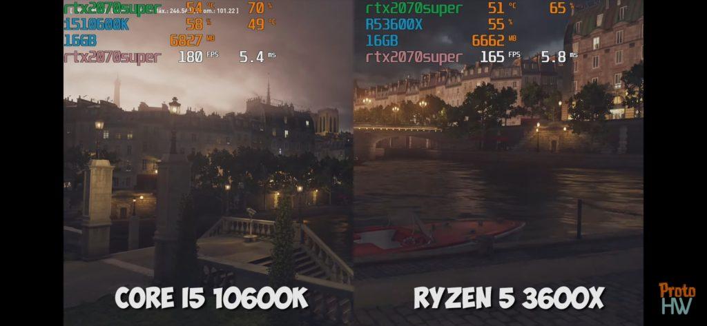 Hitman Intel vs ryzen