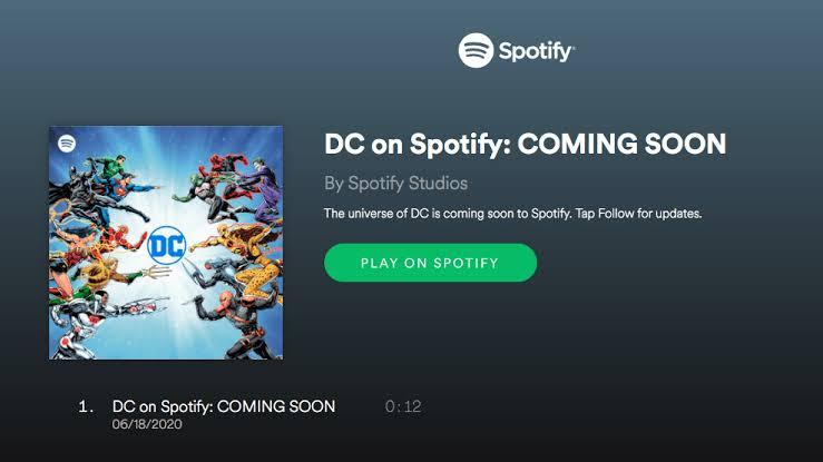 Spotify y DC