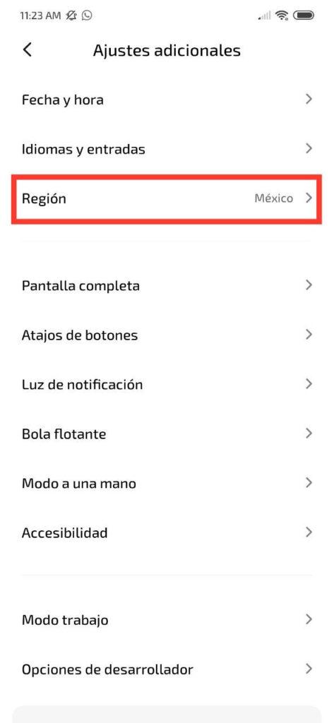 Cambio de región en tu dispositivo Xiaomi [Tutorial]