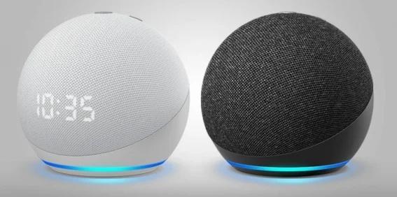 Echo Dot y Echo Dot con reloj