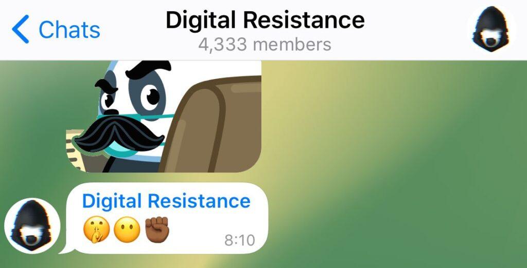 Telegram administrador anónimo