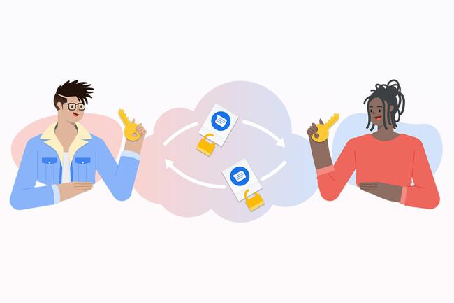 Cifrado mensajes de Google