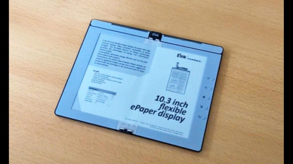 Esta es la primer pantalla de tinta electrónica flexible a color