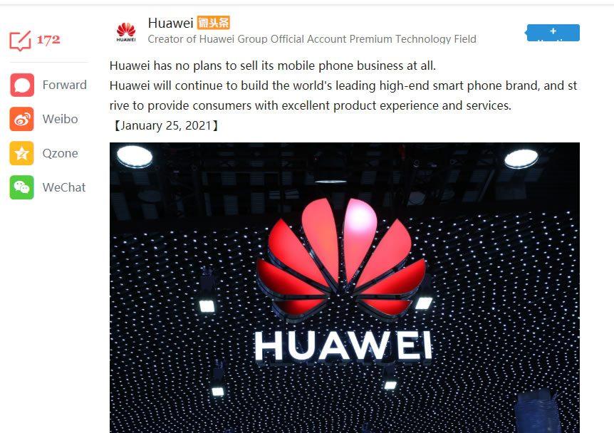 Comunicado Huawei
