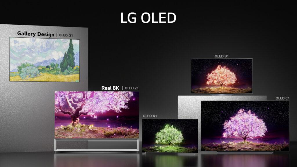 LG lanza su línea de televisores OLED 2021