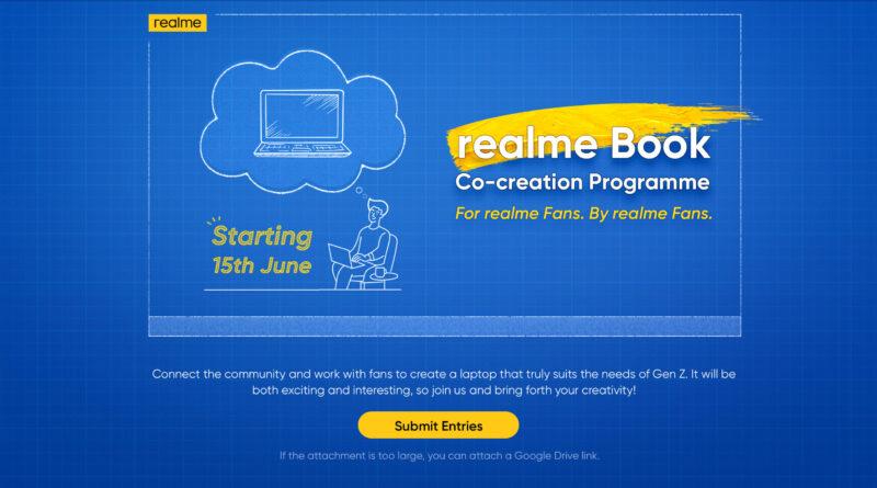 Realme Book co-creación